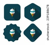ice cream flat icon with long...   Shutterstock .eps vector #239188678