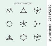 abstract hipster logo vector set   Shutterstock .eps vector #239192380