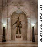 Small photo of CHARLESTON, WEST VIRGINIA - DECEMBER 18: Statue of Senator Robert C. Byrd in the West Virginia State Capitol building on December 18, 2014 in Charleston, West Virginia