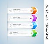arrow infographic design... | Shutterstock .eps vector #239195149