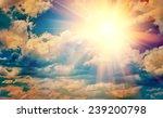 View On Beautiful Sun In Blue...