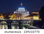 Night Landscape Of Rome  Angel...