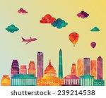 washington dc skyline. vector... | Shutterstock .eps vector #239214538