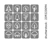 set of simple tree icons | Shutterstock .eps vector #239223094