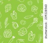 hand drawn vegetable pattern.... | Shutterstock .eps vector #239228560