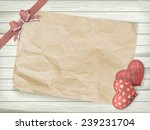 blank old piece of paper and...   Shutterstock .eps vector #239231704