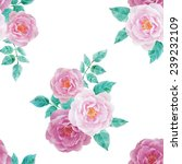 watercolor seamless roses... | Shutterstock .eps vector #239232109