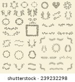 big collection with vector... | Shutterstock .eps vector #239232298
