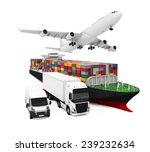 world wide cargo transport... | Shutterstock . vector #239232634