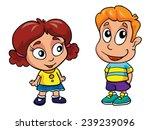 boy and girl vector... | Shutterstock .eps vector #239239096