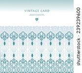 wedding invitation with... | Shutterstock .eps vector #239239600