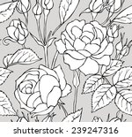 seamless pattern rose black  ... | Shutterstock .eps vector #239247316