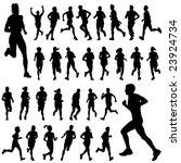 running people set vector | Shutterstock .eps vector #23924734