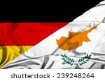 waving flag of cyprus and...   Shutterstock . vector #239248264