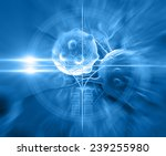 cancer cell made in 3d software | Shutterstock . vector #239255980