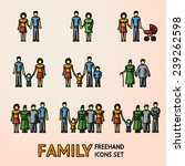 multigenerational family... | Shutterstock .eps vector #239262598