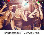 stylish friends dancing and... | Shutterstock . vector #239269756