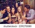 attractive friends celebrating... | Shutterstock . vector #239270080