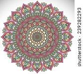 mandala. vintage decorative... | Shutterstock .eps vector #239282293