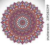 mandala. vintage decorative... | Shutterstock .eps vector #239282299