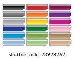 sticky glossy rectangular blank ... | Shutterstock .eps vector #23928262