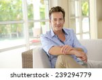 portrait of single middle aged... | Shutterstock . vector #239294779