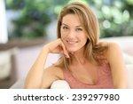 portrait of attractive blond... | Shutterstock . vector #239297980
