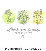 greeting card with doodle  ... | Shutterstock .eps vector #239302333