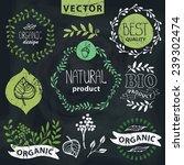 set of badges labels logo... | Shutterstock .eps vector #239302474