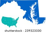 maryland map | Shutterstock .eps vector #239323330