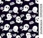 ghost vector seamless pattern...   Shutterstock .eps vector #239325328