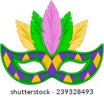 mardi gras mask design  | Shutterstock .eps vector #239328493