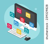 information technology concept  ... | Shutterstock .eps vector #239329828