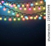 christmas light garland on... | Shutterstock .eps vector #239335498