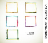Watercolor Set Frame. Colorful...