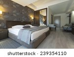 Stock photo hotel interior apartment bedroom 239354110