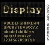 bulb font vector illustration. | Shutterstock .eps vector #239370430