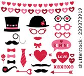 valentine photo booth and... | Shutterstock .eps vector #239373919