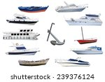 boats isolated on white... | Shutterstock . vector #239376124