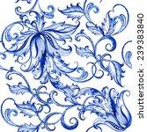 vector floral watercolor... | Shutterstock .eps vector #239383840