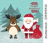 vector illustration of santa... | Shutterstock .eps vector #239395933