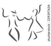 dancing couple logo. swing... | Shutterstock . vector #239397634