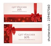 gift voucher template with red... | Shutterstock .eps vector #239407060