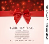 greeting card template with red ... | Shutterstock .eps vector #239407183