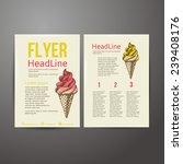 abstract  brochure flyer design ... | Shutterstock .eps vector #239408176