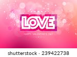 vector paper inscription love... | Shutterstock .eps vector #239422738