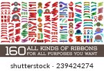 big huge biggest set of ribbons ... | Shutterstock .eps vector #239424274