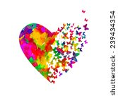 watercolor heart with... | Shutterstock .eps vector #239434354