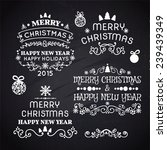 set of merry christmas... | Shutterstock .eps vector #239439349