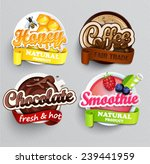 set of stickers of drinks... | Shutterstock .eps vector #239441959